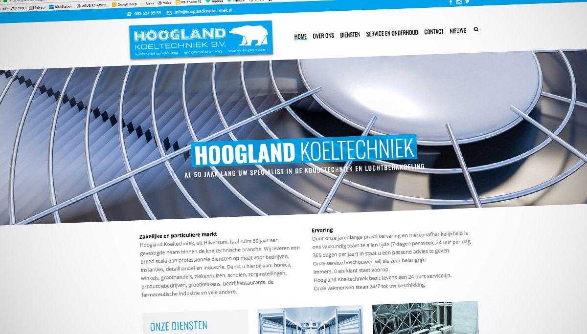 Hoogland Koeltechniek Uit Hilversum Heeft Een Nieuwe Website