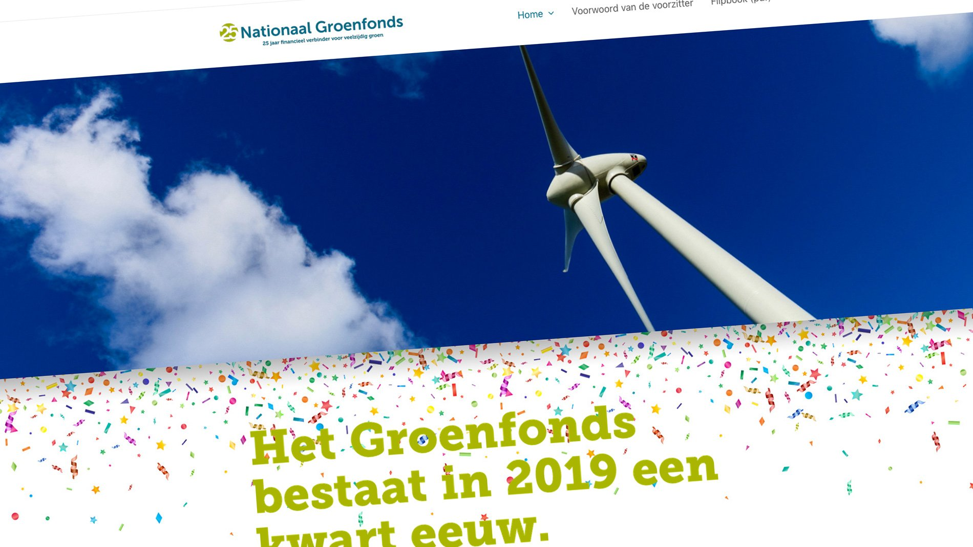 Sitback Bouwt Ook De 'website Samenvatting' Van Het Groenfonds Jaarverslag 2018