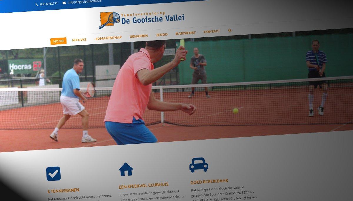 Sitback Bouwt De Nieuwe Website Voor Tennisvereniging De Gooische Vallei